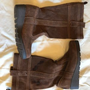 GAP - BROWN LEATHER BOOTS - YOUNG GIRLS - SIZE 1